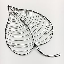 Wire Foliage IV by Barbara Gilhooly (Metal Wall Sculpture)