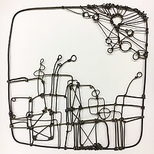 Wire Garden II by Barbara Gilhooly (Metal Wall Sculpture)