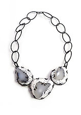 Contra Composition Necklace by Megan Auman (Silver & Stone Necklace)
