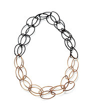 Alice Necklace by Megan Auman (Silver, Bronze & Steel Necklace)