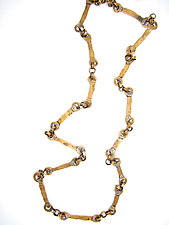 Forged-Brass Chain Necklace by Lauren Passenti (Brass Necklace)