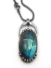 Archway Bail Labradorite Pendant by Lauren Passenti (Silver & Stone Necklace)