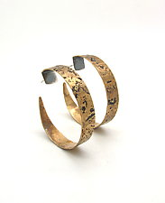 Hammered Brass Hoops by Lauren Passenti (Silver & Brass Earrings)