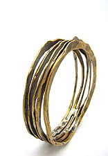 Forged Brass Multi-Bangle Bracelet by Lauren Passenti (Brass Bracelet)