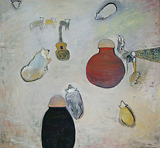 Betty's Lamb Song by Gale  Gibbs (Paintings & Drawings Oil Paintings)