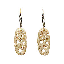 Coral Slice Earrings by Julie Cohn (Bronze & Stone Earrings)