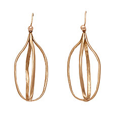 Birdcage Earrings by Julie Cohn (Bronze Earrings)