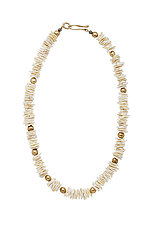 Petal Helena Necklace by Julie Cohn (Bronze & Stone Necklace)