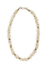 Petal Helena Necklace by Julie Cohn (Bronze & Stone Necklace)