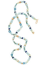 Aegean Necklace by Julie Cohn (Bronze & Glass Necklace)