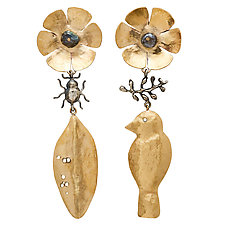 Secret Garden Earrings by Julie Cohn (Bronze Earrings)