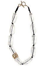 Ice Crystal Necklace by Julie Cohn (Bronze & Stone Necklace)