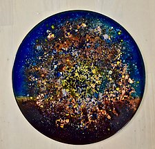 New Star Disc 1 by Cynthia Miller (Art Glass Sculpture)