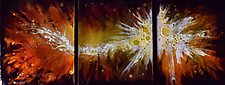 Fiery Nebula Trio by Cynthia Miller (Glass Wall Hanging)