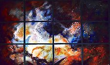 Shimmering New Stardust by Cynthia Miller (Art Glass Wall Sculpture)