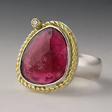 Twist Tourmaline Pink Ring by Jennifer Park (Gold, Silver & Stone Ring)