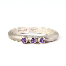 Amethyst Three-Stone Ring by Jennifer Park (Silver & Stone Ring)