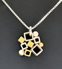 Dandelion Cluster Pendant by Bethany Montana (Gold & Silver Necklace)