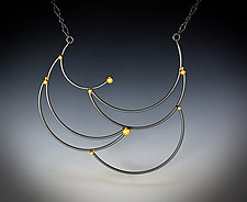 Adorned Scales Necklace by Bethany Montana (Gold & Silver Necklace)