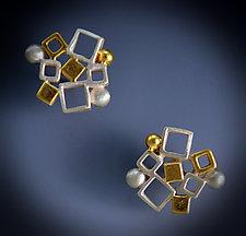 Dandelion Cluster Earrings by Bethany Montana (Gold & Silver Earrings)