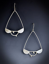 Triple Scalloped Dangle Earring by Bethany Montana (Silver Earrings)