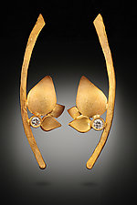 Branch Leaves by Rosario Garcia (Gold & Stone Earrings)