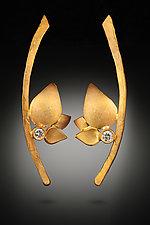 Branch Leaves by Rosario Garcia (Gold & Stone Earrings)