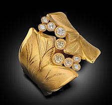 Broken Leaf by Rosario Garcia (Gold & Stone Ring)