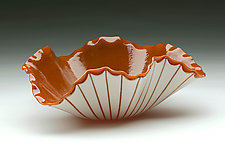 Orange Poppy Bowl by Denise Bohart Brown (Art Glass Bowl)