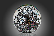 Lava and Snow Adventure Paperweight by David Lindsay (Art Glass Paperweight)