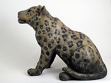 Leopard by Ronnie Gould (Ceramic Sculpture)