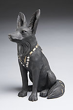 Jackal by Ronnie Gould (Ceramic Sculpture)