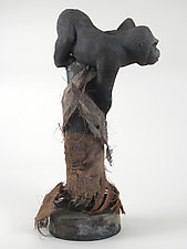 Gorilla by Ronnie Gould (Ceramic Sculpture)