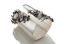 Layered Cuff Bracelet by Suzanne Schwartz (Silver Bracelet)