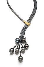 Tahitian Pearl Necklace by Suzanne Schwartz (Silver & Pearl Necklace)