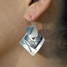 Three Piece Layered Earrings by Suzanne Schwartz (Silver Earrings)