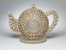 Tea With Grace by Charissa Brock (Art Glass Sculpture)