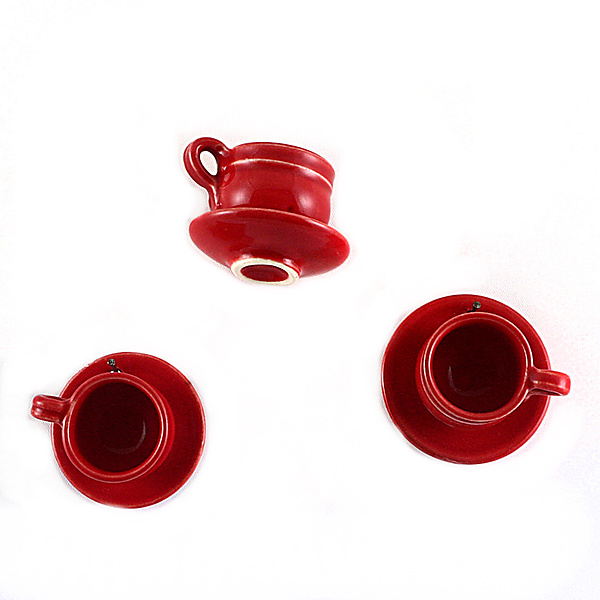 Red Teacups on the Wall