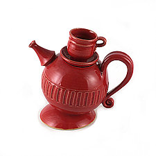 Teapot with Attitude by Carol Tripp Martens (Ceramic Teapot)