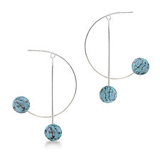 Large Orbit Hoops by Lindsay Locatelli (Silver & Polymer Clay Earrings)