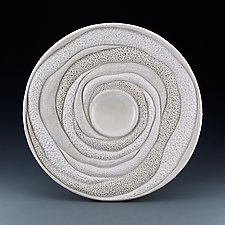 Alexa Coastal Collage Round Sculptural Form by Judi Tavill (Ceramic Wall Sculpture)