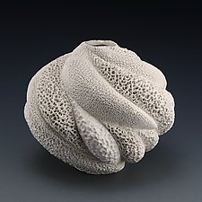 Savannah Coral Collage Vessel by Judi Tavill (Ceramic Vessel)