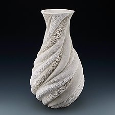 Melinda Coastal Collage Vessel by Judi Tavill (Ceramic Vessel)