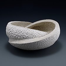 Wrapping Texture Bowl Form A by Judi Tavill (Ceramic Bowl)