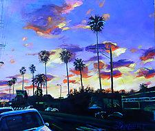 Twilight at Figueroa and 40th, LA by Bonnie Lambert (Oil Painting)