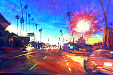 York at Figueroa by Bonnie Lambert (Oil Painting)