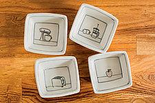 Tiny Squares by Nicole Aquillano (Ceramic Bowls)