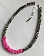 Breast Cancer Awareness Necklace by Sher Berman (Beaded Necklace)