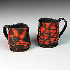 Pair of Mirrored Mugs by Thomas Harris (Ceramic Mugs)