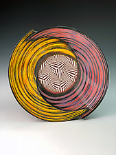 two-cut spiral bowl by Thomas Harris (Ceramic Bowl)